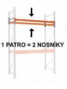 paletový regál - prídavné poschodie (2 ks nosník) 100  cm - nosnost 3000 kg, pozinkovaný