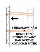 PALETOVÝ REGÁL - REGÁLOVÝ RÁM 200  CM, POZINKOVANÝ