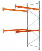 paletový regál prídavný 100 x 100 x 500 cm - 1500 kg/poschodie, pozinkovaný
