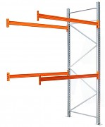 paletový regál prídavný 100 x 100 x 400 cm - 1500 kg/poschodie, pozinkovaný