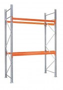 paletový regál základný 100 x 180 x 450 cm - 1500 kg/poschodie, pozinkovaný