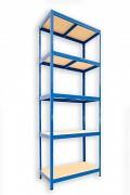 kovový regál Biedrax 45 x 60 x 210 cm - 5 políc x 175kg, modrý