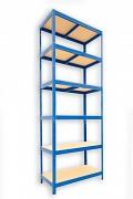 kovový regál Biedrax 35 x 60 x 210 cm - 6 políc x 175kg, modrý