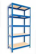 kovový regál Biedrax 35 x 60 x 180 cm - 5 políc x 175kg, modrý