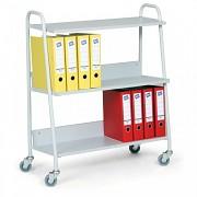 kancelársky vozík na šanóny Biedrax VK3624S - farba sivá