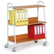 kancelársky vozík na šanóny Biedrax VK3624T - farba čerešňa