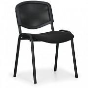 konferenčná čalúnená stolička, čierna Biedrax Z9850C
