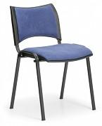 konferenčná čalúnená stolička, modrá Biedrax Z9094M
