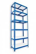 kovový regál Biedrax 35 x 60 x 240 cm - 6 políc lamino x 175 kg, modrý