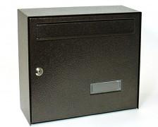 poštová schránka na listy, noviny, lakovaná hnedá - Biedrax SD6309