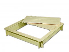 pieskovisko drevené s lavičkami a krytom BIEDRAX 115 x 115 x 20 cm