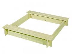pieskovisko drevené s lavičkami BIEDRAX 115 x 115 x 20 cm