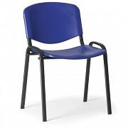 konferenčná plastová stolička ISO, modrá Biedrax Z9517M, čierne nohy