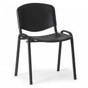 konferenčná plastová stolička ISO, čierna Biedrax Z9517C, čierne nohy