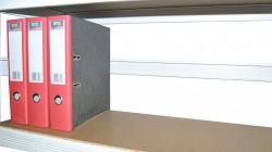 zadná zábrana 100 cm biela, pre kovový regál proti vypadnutiu