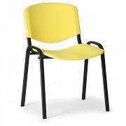 konferenčná plastová stolička ISO, žltá Biedrax Z9517ZL, čierne nohy