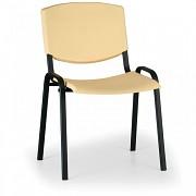 konferenčná plastová stolička, žltá Biedrax Z8982ZL, čierne nohy
