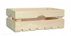 drevená debna 34 x 20 x 12 cm - Biedrax