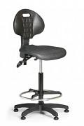 pracovná stolička PUR Biedrax Z9769 - s oporným kruhom a klzákmi