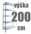REGÁLY VÝŠKA 200 CM