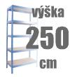 REGÁLY VÝŠKA 250 CM